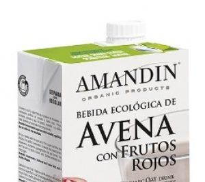 Amandin lanza su bebida de avena con frutos rojos