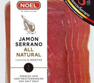 Noel lanza jamón serrano loncheado All Natural