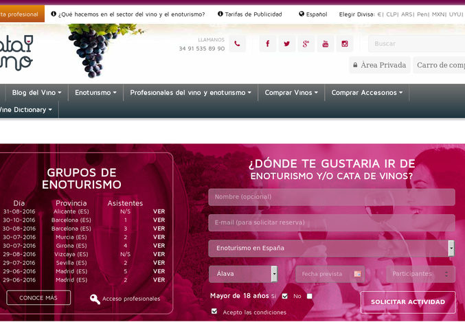 El enoturismo se posiciona como turismo de calidad en España