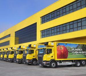 Alimerka adquiere veinte camiones de GNL de Scania