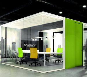 Envatech presenta  el sistema QBox, la oficina en forma de cubo