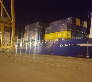 El puerto de Huelva suma su cuarta línea de contenedores