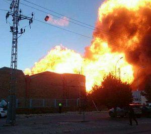 Incendio en las instalaciones valencianas de Indukern