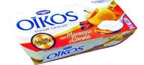 'Oikos Manzana-Canela' y 'Oikos Caramelo' (Yogures Griegos). Danone