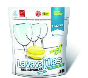 Flopp Lavavajillas Gel Eco (Lavavajillas). Flopp Ropa Bebé (Detergentes). Careli Limpiador de Cafeteras (Limpieza electrodomésticos). Careli 2007