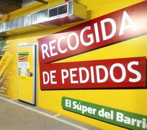 Ahorramas instala un punto de recogida de pedidos en uno de sus supermercados
