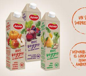 Juver presenta sus zumos veggies en un envase innovador