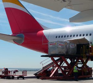 La mercancía aérea aumenta un 19% en octubre