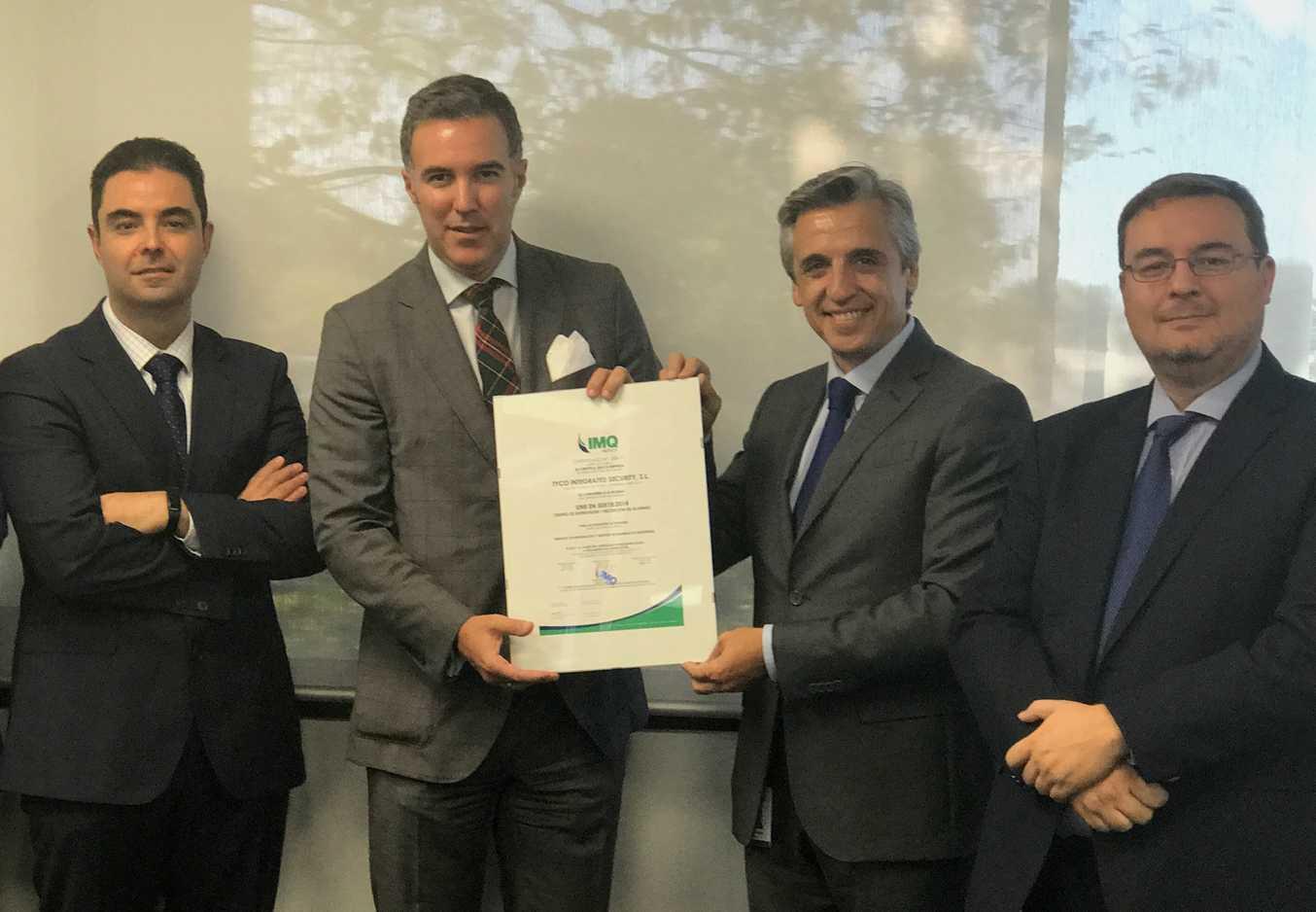 Tyco consigue la Certificación Europea UNE EN 50518