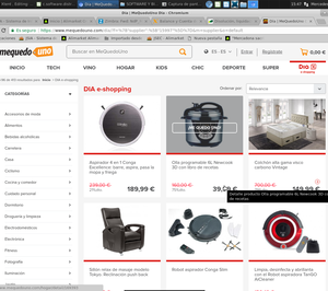 Mequedouno incorpora en su web a Dia e-shopping