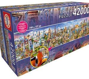 La vuelta al mundo en 42.000 piezas, el nuevo megapuzzle de Educa