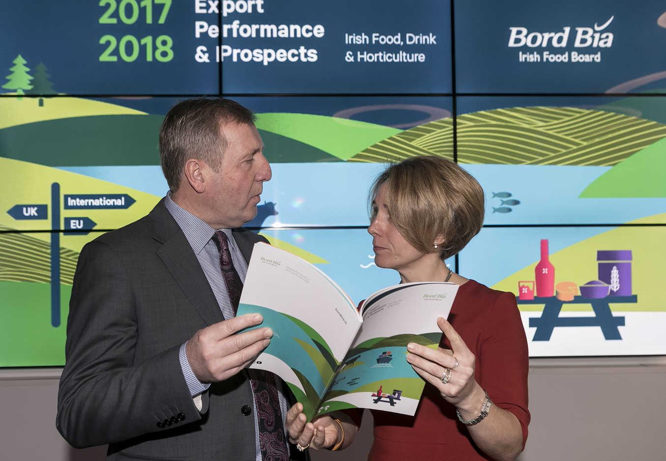Las exportaciones de productos irlandeses alcanzan máximos historicos