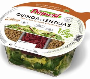 DiqueSí lanza su nueva gama de ensaladas 100 % veganas