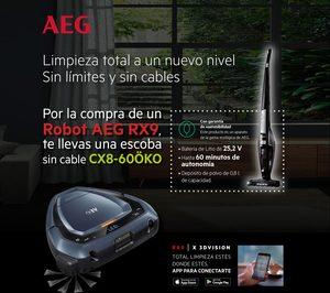 AEG promociona su robot aspirador RX9
