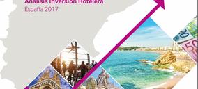 La inversión hotelera en España alcanza los 3.900 M€ en 2017