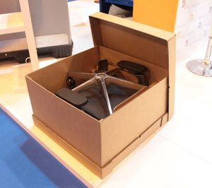 DS Smith Tecnicarton y Forma 5 diseñan un embalaje para sillas de oficinas