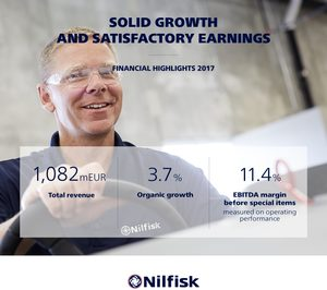 Nilfisk crece a nivel global un 3,7% en 2017