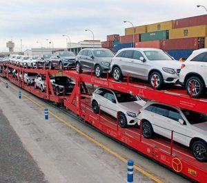 Comienza una ruta ferroviaria de automóviles de Alemania al puerto de Barcelona