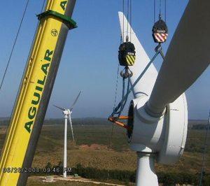 Grúas Aguilar apuesta por su negocio de parques eólicos