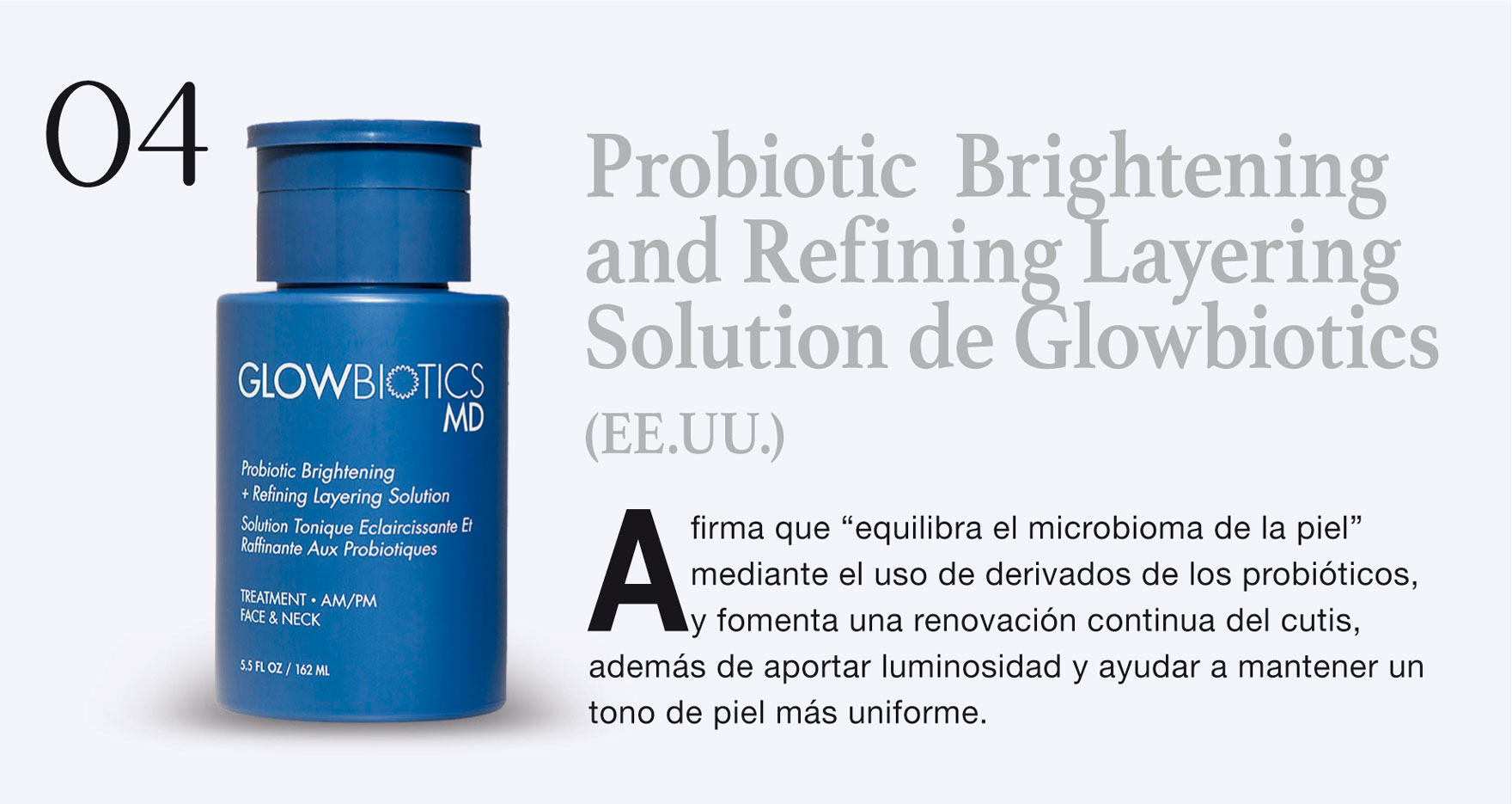 Probiotic Brightening and Refining Layering Solution de Glowbiotics