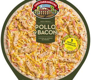 Tarradellas lanza una pizza con masa de cinco cereales y semillas