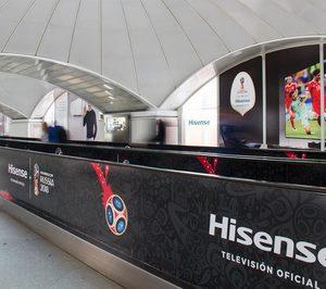 Hisense desarrolla una campaña promocional en Atocha