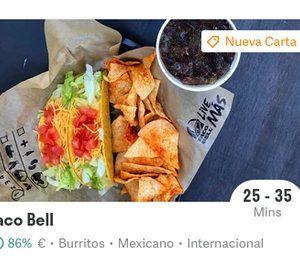 Taco Bell firma en exclusiva el envío a domicilio con Deliveroo