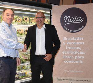 Eroski añade ensaladas y verduras ecológicas a través del proyecto Naia