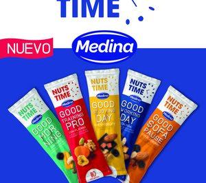 Medina, nuevos snacks saludables con Nuts time