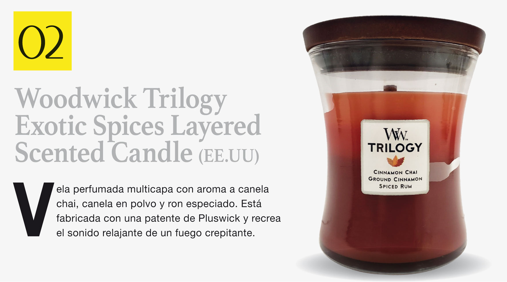 Woodwick Trilogy Exotic Spices Layered Scented Candle (EE.UU)