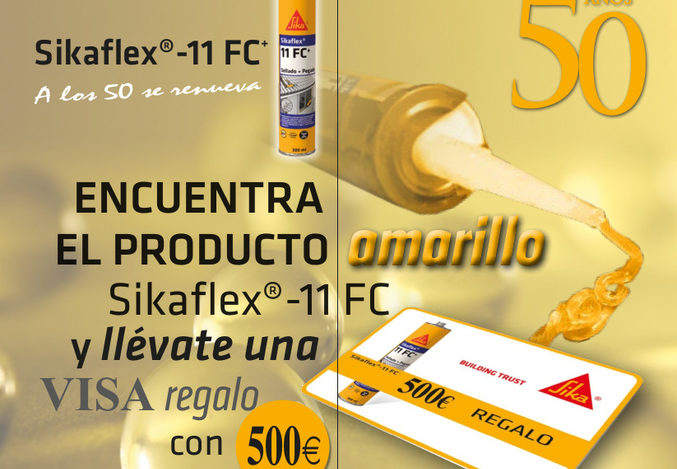 Sika regala 500 € para celebrar los 50 años de Sikaflex