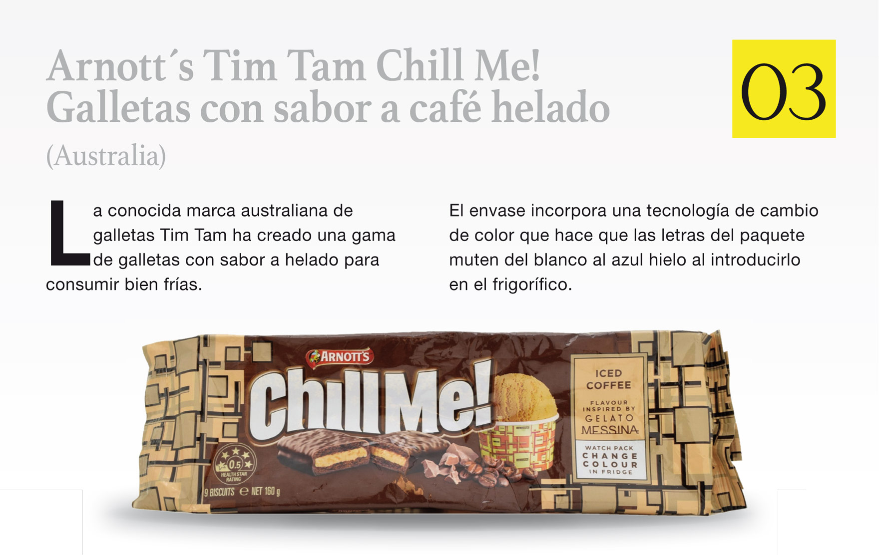 Arnott´s Tim Tam Chill Me! Galletas con sabor a café helado