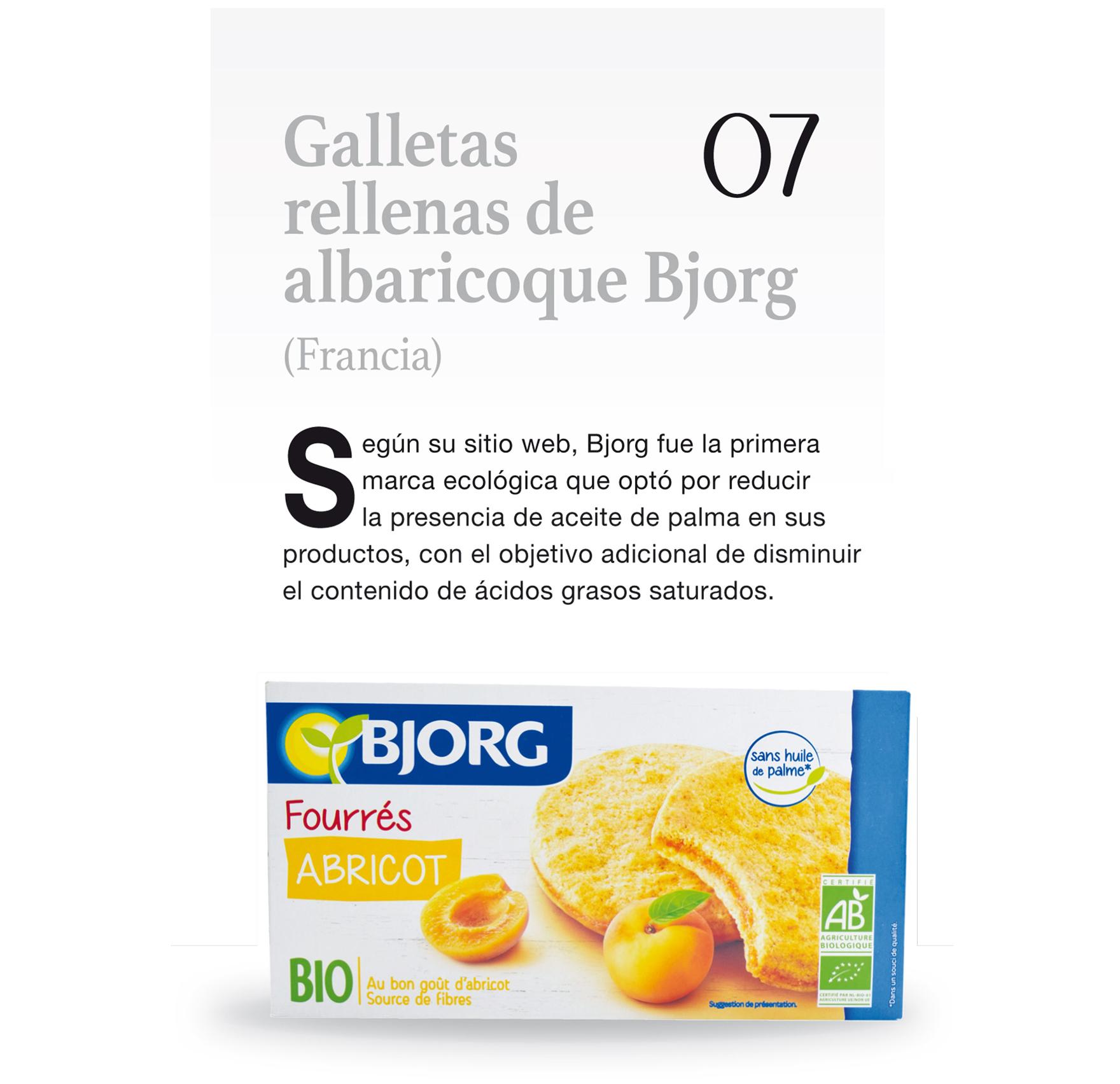 Galletas rellenas de albaricoque Bjorg