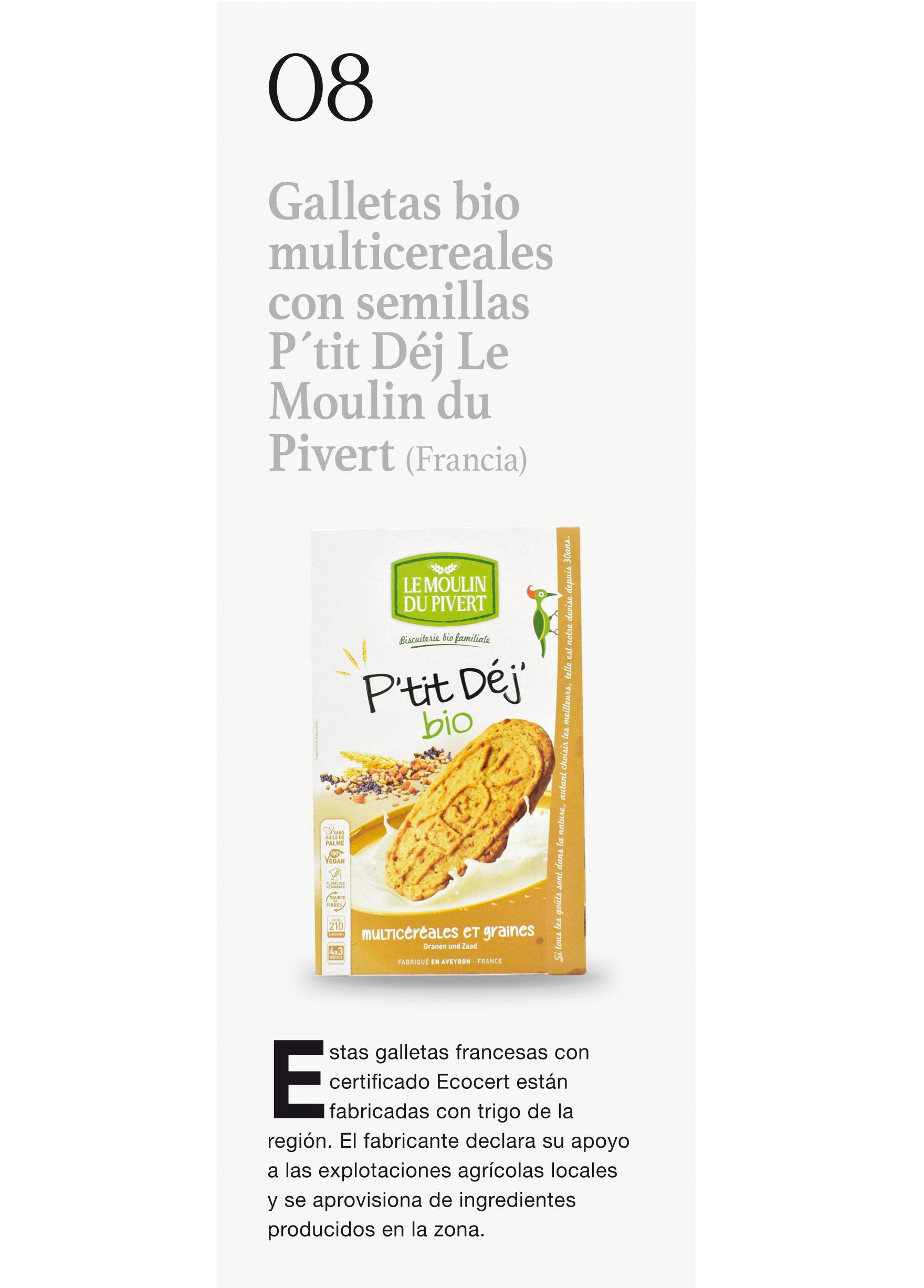 Galletas bio multicereales con semillas P´tit Déj Le Moulin du Pivert