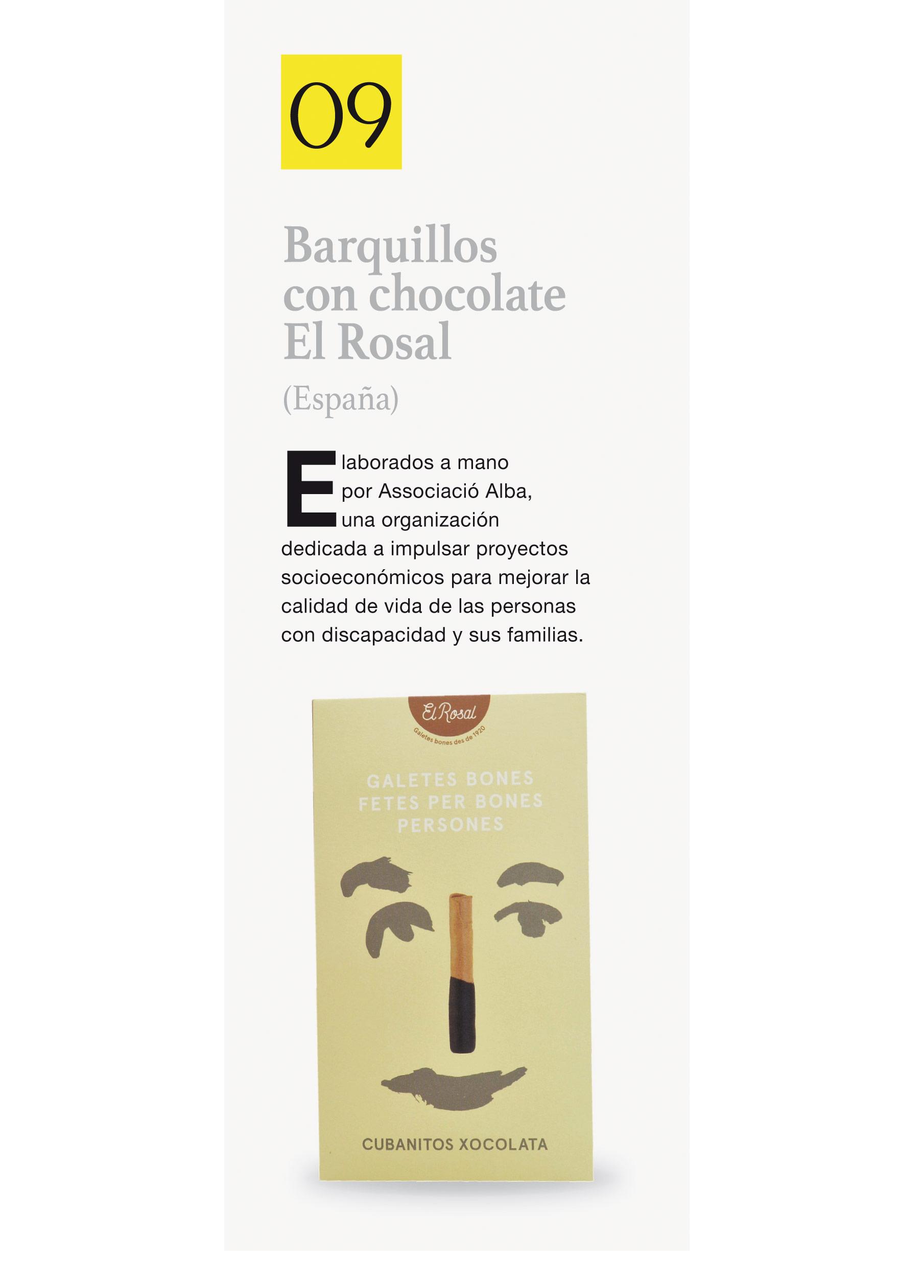 Barquillos con chocolate El Rosal