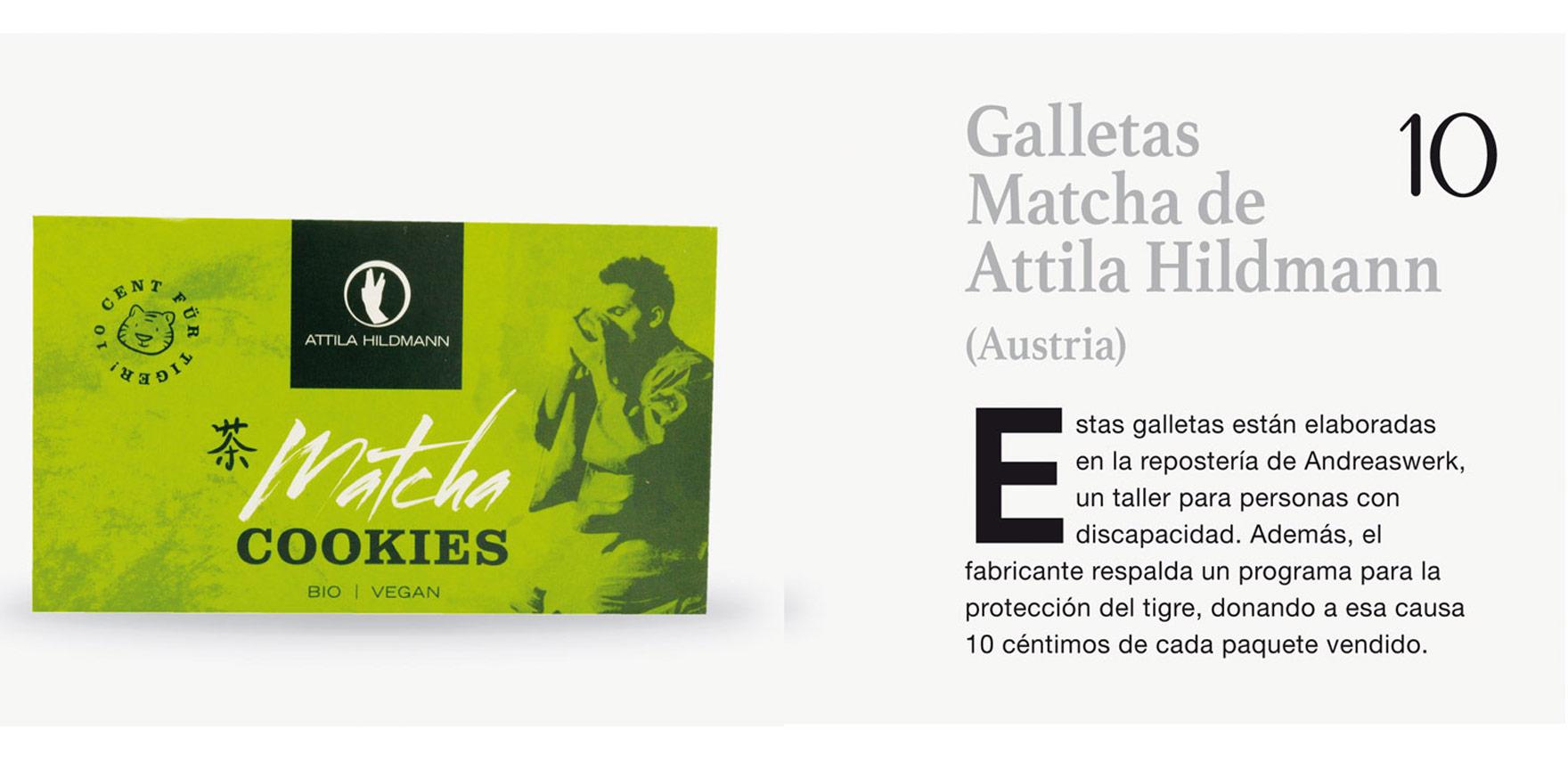 Galletas Matcha de Attila Hildmann