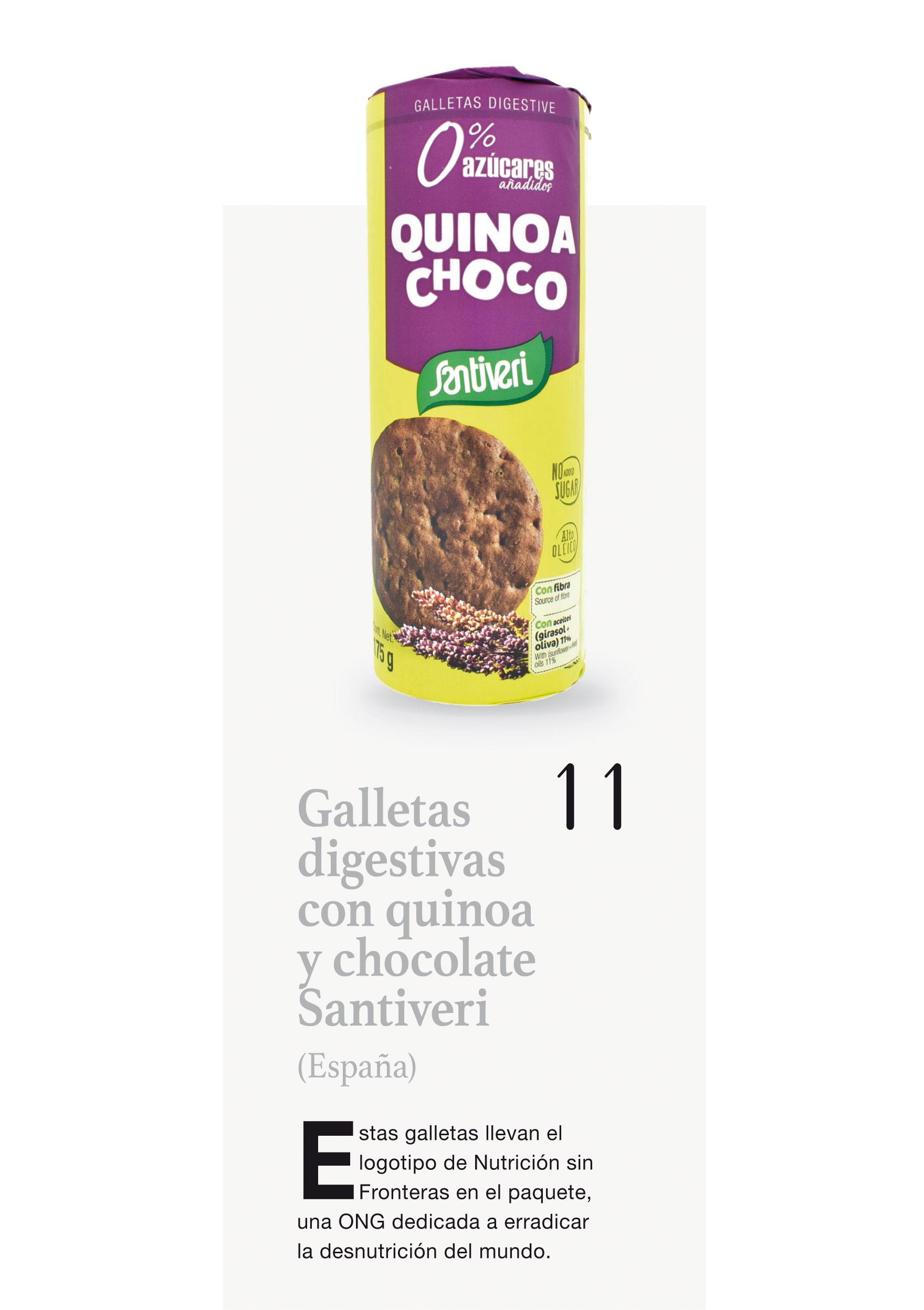 Galletas digestivas con quinoa y chocolate Santiveri