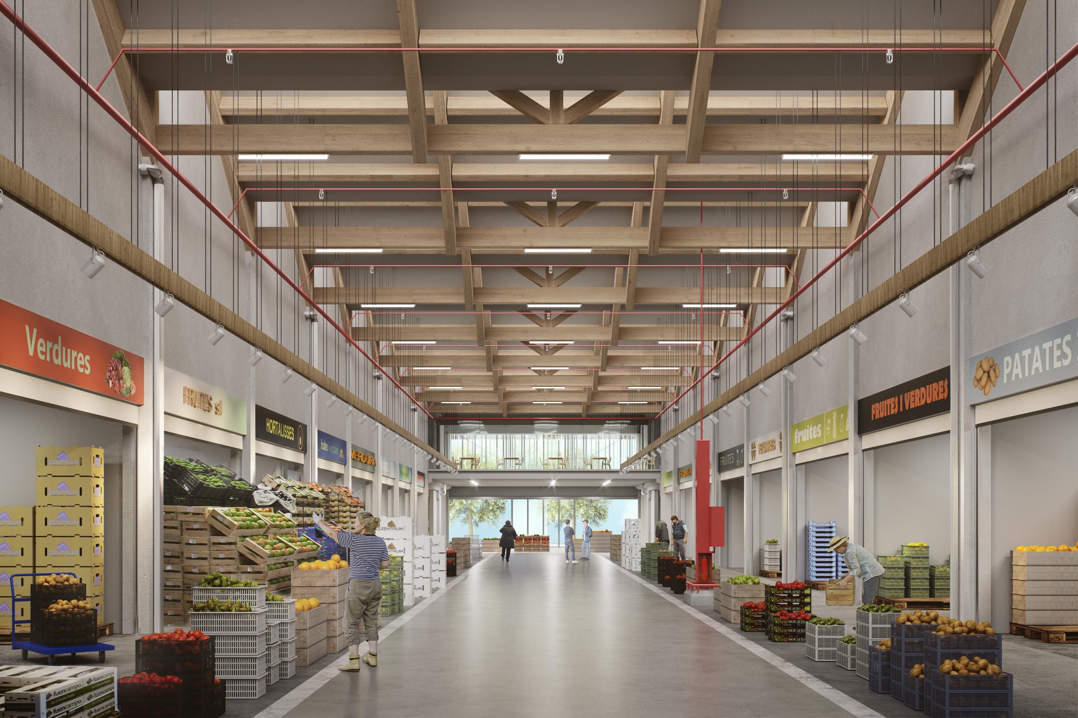Mercabarna construye el primer mercado de frescos ecológicos