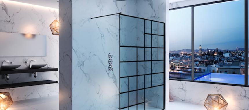Duscholux presenta la nueva mampara personalizable Basic Deco