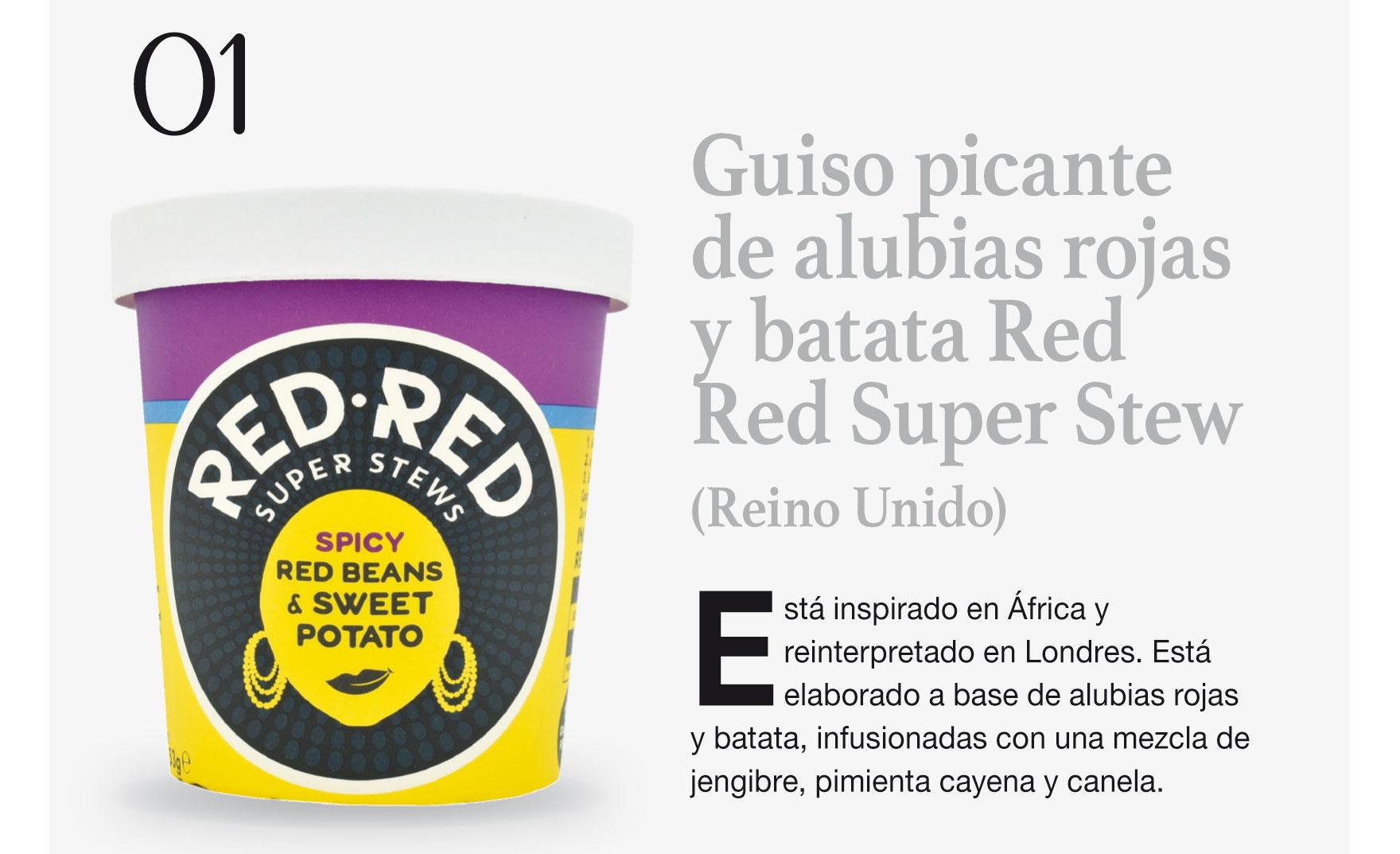 Guiso picante de alubias rojas y batata Red Red Super Stew (Reino Unido)