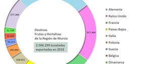 Murcia batió su récord de exportación hortofrutícola en 2018