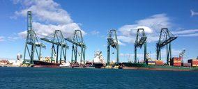 El movimiento en los puertos españoles sólo creció un 1,8% en enero