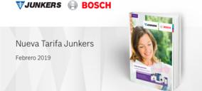 Novedades en la Tarifa de Junkers 2019 en ACS, calefacción y climatización