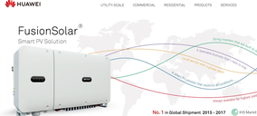 Huawei entra en el negocio de la energía solar en España