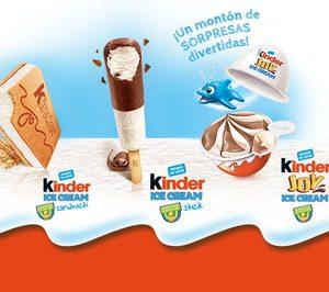 Los helados Kinder llegan a España en alianza con Unilever