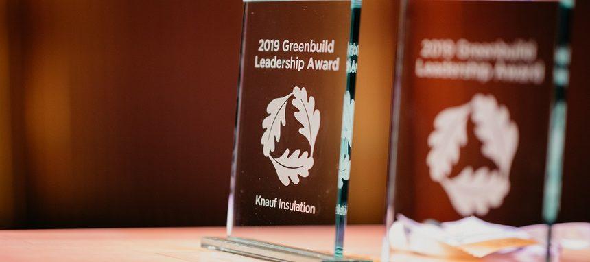 Knauf Insulation recibe el Greenbuilding Leadership Award 2019 por sus contribuciones a la construcción sostenible