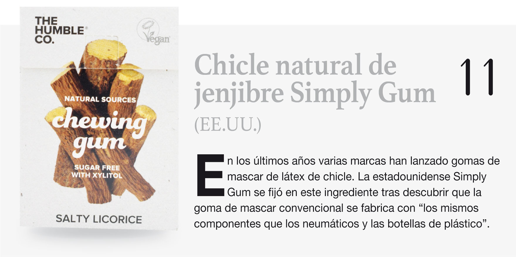 Chicle natural de jenjibre Simply Gum (EE.UU.)