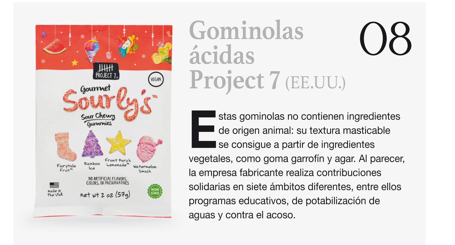 Gominolas ácidas Project 7 (EE.UU.)