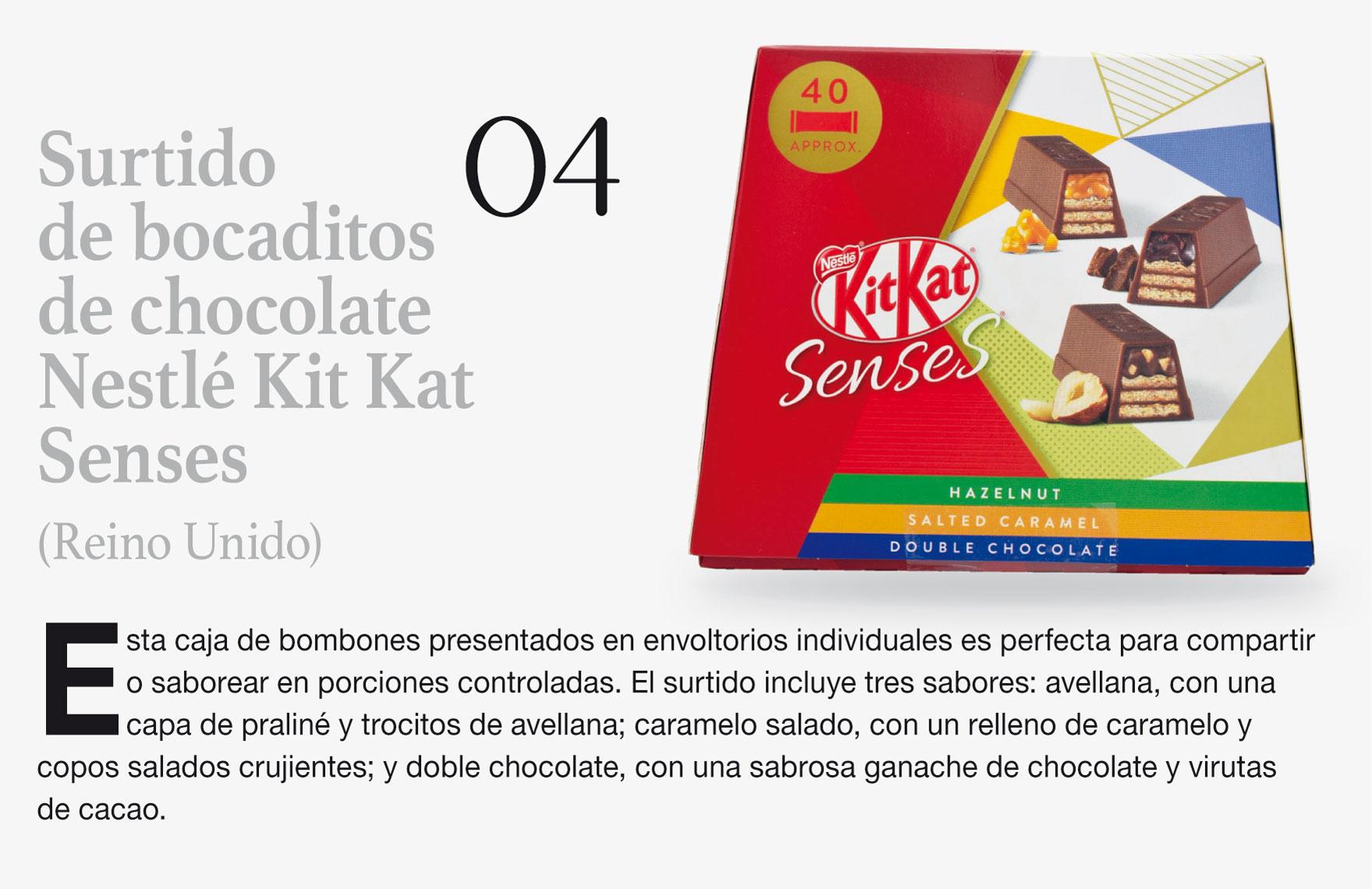 Surtido de bocaditos de chocolate Nestlé Kit Kat Senses (Reino Unido)
