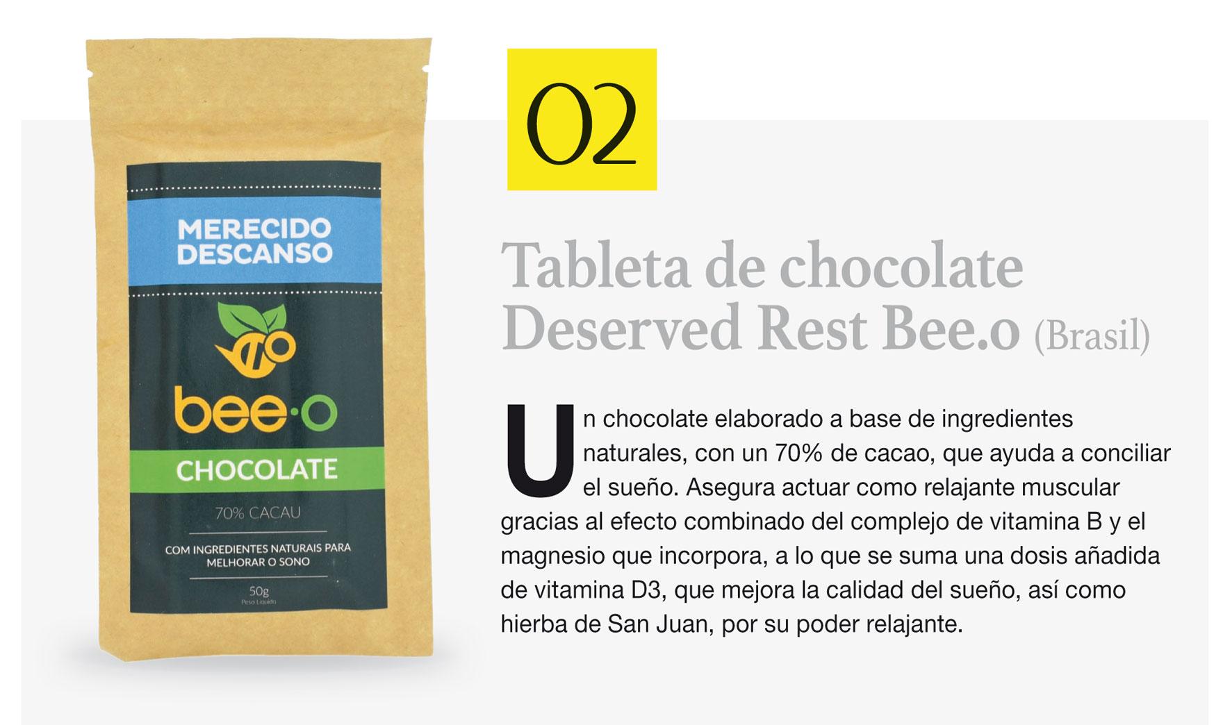 Tableta de chocolate Deserved Rest Bee.o (Brasil)